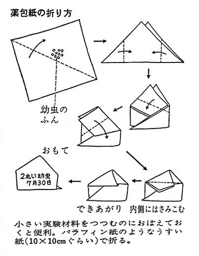 薬包紙の折り方 : 箱 紙 : すべての講義